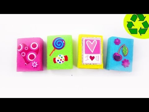How to make cute felt mini gift boxes- Recycling - EP - simplekidscrafts - simplekidscrafts