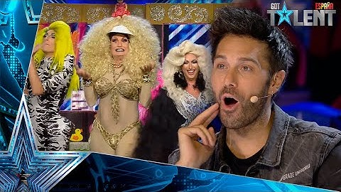 YAS! The DRAG world sweeps in this great group SHOW   Auditions 10   Spain's Got Talent 2021