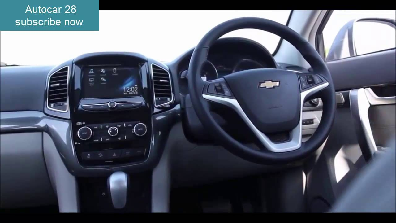 2017 Chevrolet Captiva Interior and Test Drive - YouTube
