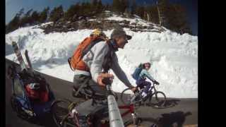 Crater Lake spring ski and snowkite adventure