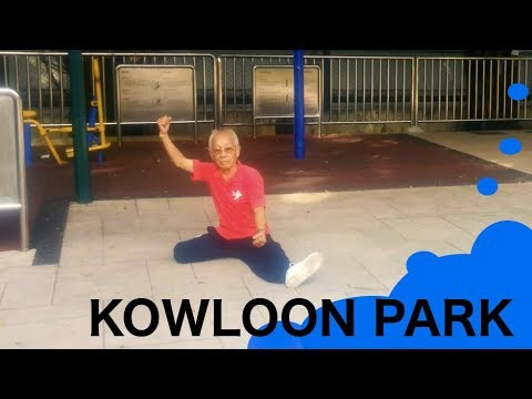 Kowloon Park: 80-Year-Old practicing Tai Chi