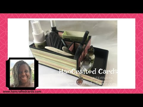 How to make a desk caddy - craft room organization! 😀