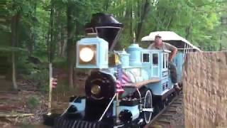 The Essex County Turtle Back Zoo's Blue Train Near The Loop