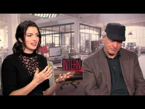The Intern: Robert De Niro & Anne Hathaway Official Movie Interview