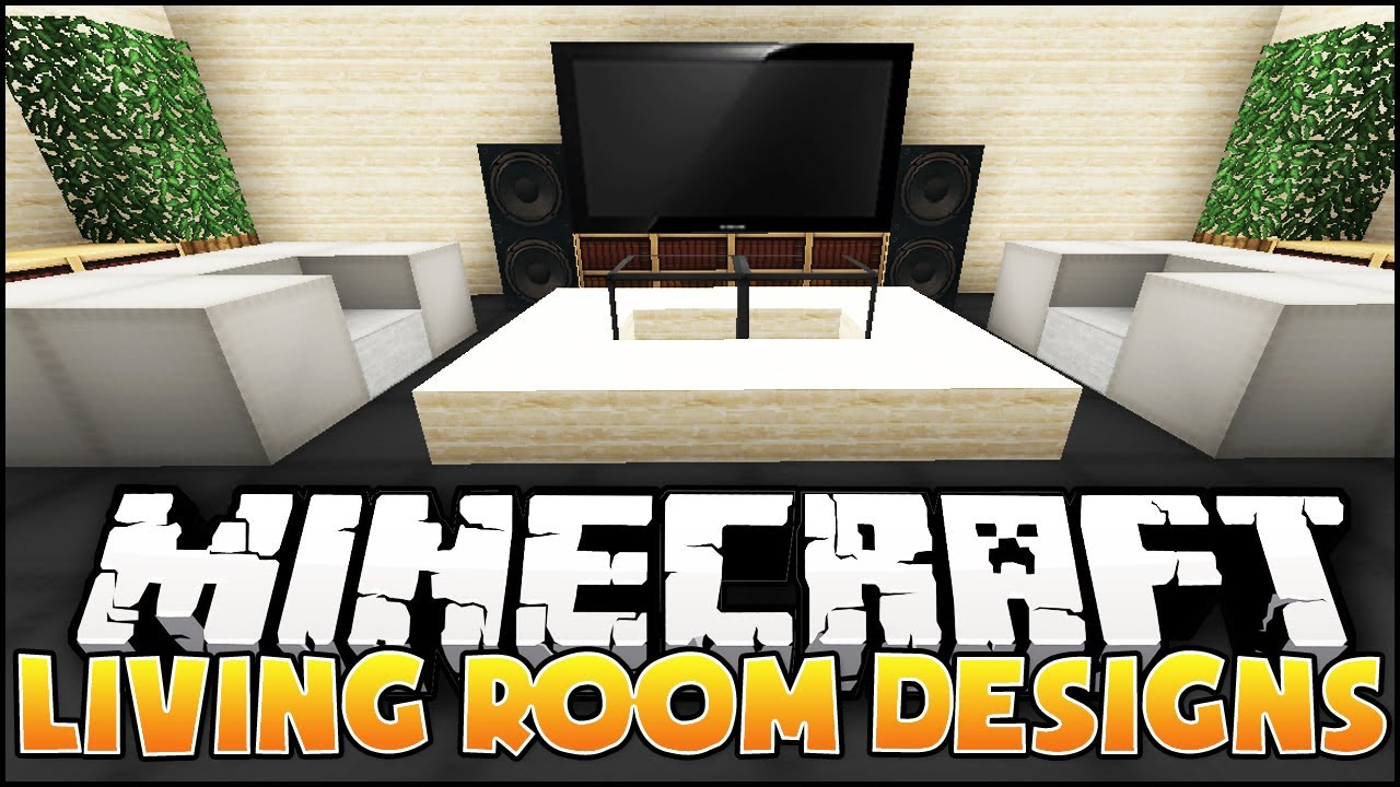 Modern Living Room Minecraft minecraft: living room designs & ideas - youtube