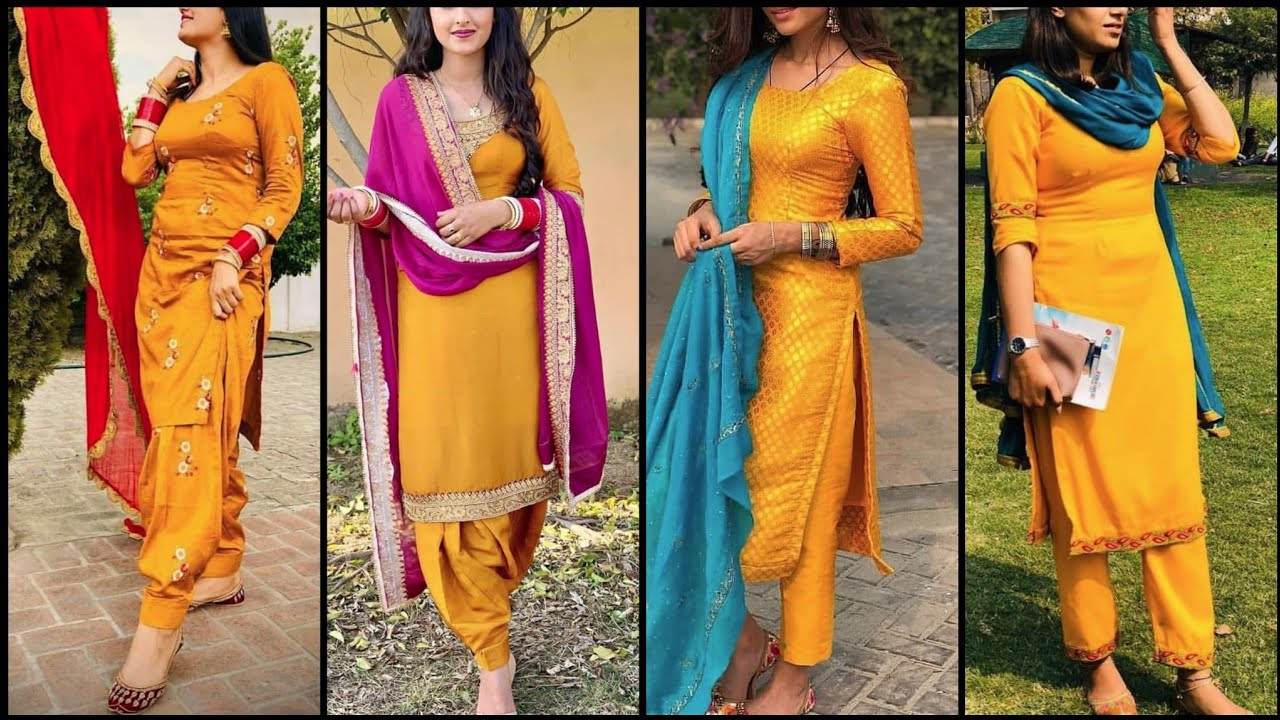 Beautiful Mustard Colour Suit 2020 Mustard Colour Combinations Youtube