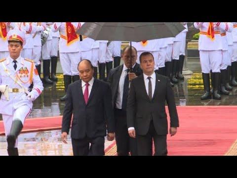 Russian Prime Minister Dmitry Medvedev visits Vietnam