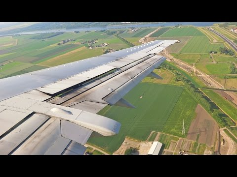 Beautiful Approach Amsterdam Schiphol British Airways Boeing 737-400 Landing [1080p HD]