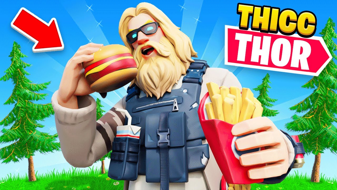 THICC THOR Challenge in Fortnite!