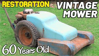 RARE 60 YEAR OLD MOWER RESTORATION