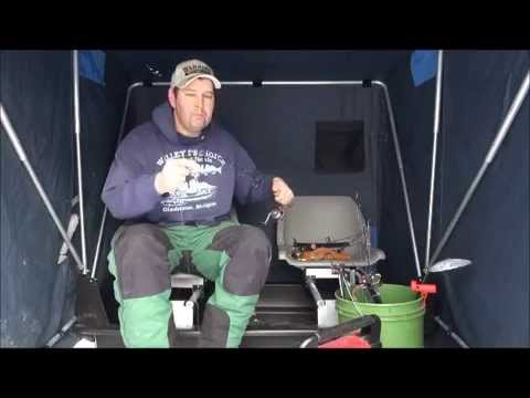 Ice fishing walleye rod set up youtube for Ice fishing youtube