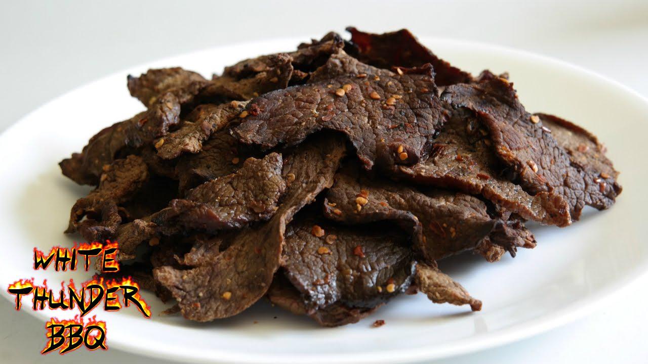 Beef Jerky Recipe How To Make Homemade Beef Jerky White Thunder Bbq