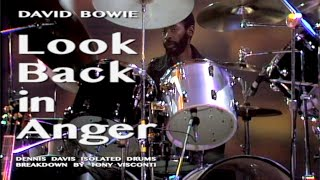 David Bowie • Look Back in Anger • Dennis Davis Isolated Drums Breakdown by Tony Visconti