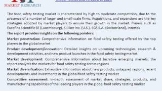 Food Safety Testing Market To Reach USD 17.16 Billion at a Growth rate of 7.4% By 2021