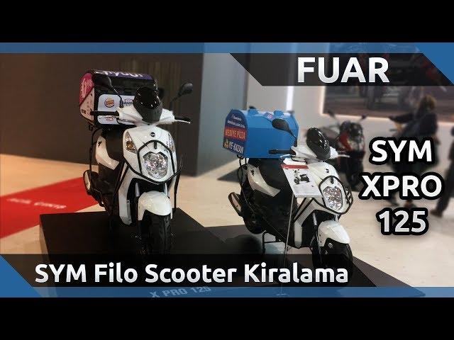 2019 SYM XPRO 125 - Filo Motosiklet Kiralama - 2019 Motobike İstanbul Fuarı