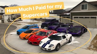 How much I Paid for my Supercar Collection.