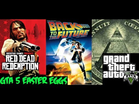 Dead redemption back to the future illuminati easter eggs youtube