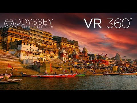 THE GANGES, VARANASI, INDIA IN 5.2K - IMMERSIVE 360° VR EXPERIENCE -