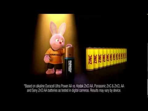 Batteries For Less >> DURACELL BUNNY COMMERCIAL UK - YouTube