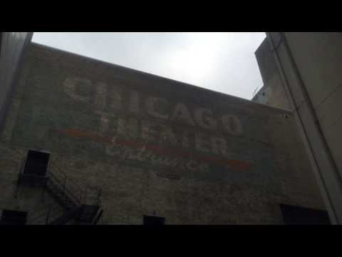 Old Forgotten Chicago Theater Painted  Entrance Sign