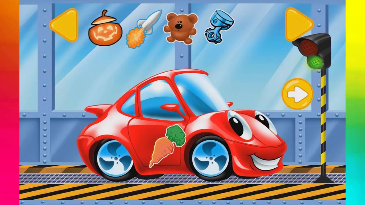 Cartoni con macchinine per ragazzi lavaggio auto