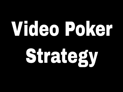 Best Video Poker Strategy Jacks Or Better On Poker Tron