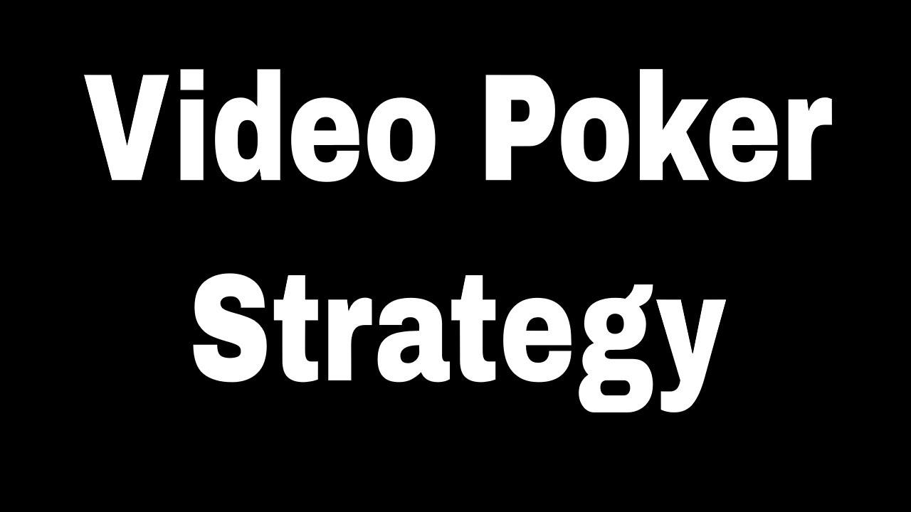 Best video poker jacks or better strategy