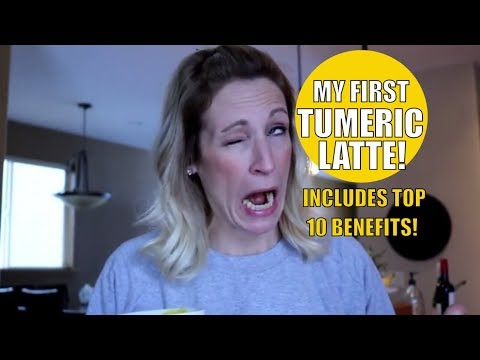 Tumeric Latte | The Top 10 Benefits of Tumeric | Tumeric Latte Recipe!