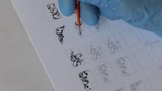видео Тренировочные карты для росписи ногтей