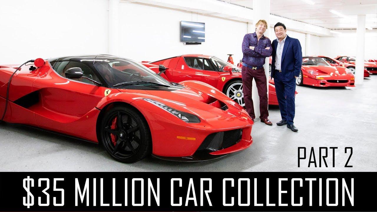 Ferrari Collector David Lee S 35 Million Car Collection Part 2 Youtube