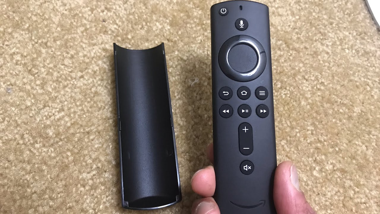 Open Stuck Remote battery cover of Amazon Fire TV stick 4K