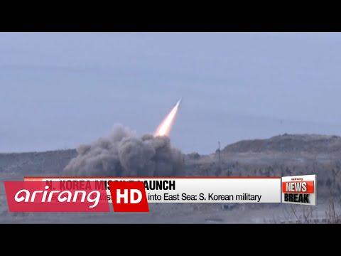 ARIRANG NEWS BREAK 10:00 N. Korea fires ballistic missile into East Sea: S. Korean military