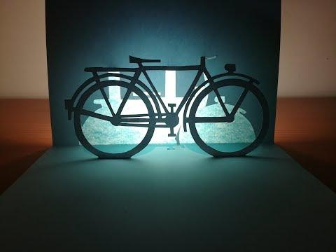 3d bicycle | Pop up bicycle card | paper art | kirigami | 3d腳踏車
