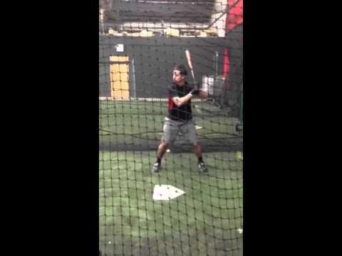 Hitting at TNT Sports in New Brunswick, NJ (1/17/14)