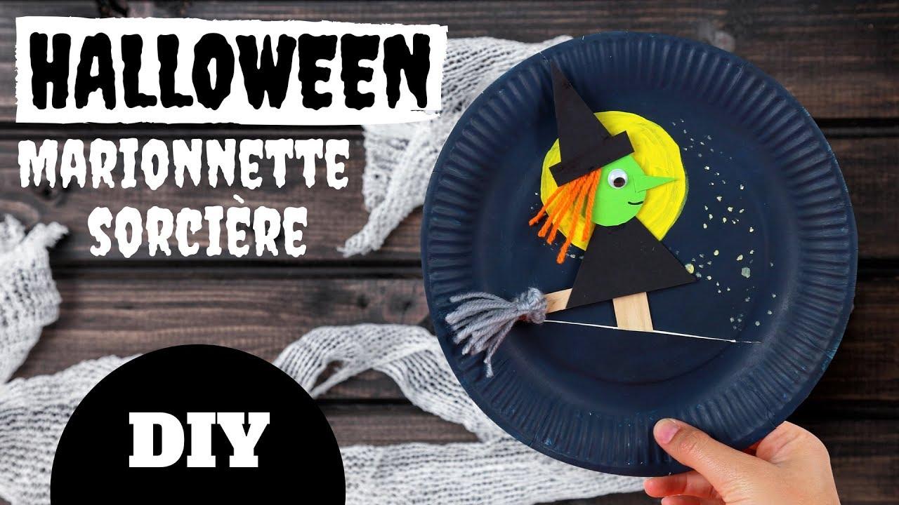 Bricolage De Sorciere D Halloween.Tuto Diy Halloween Marionnette Sorciere Bricolage Facile Pour Enfants Youtube