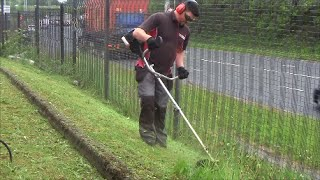 Brush cutting ACTION - Brush Cutting Job - Lawn Care - Window Cleaning - Ireland