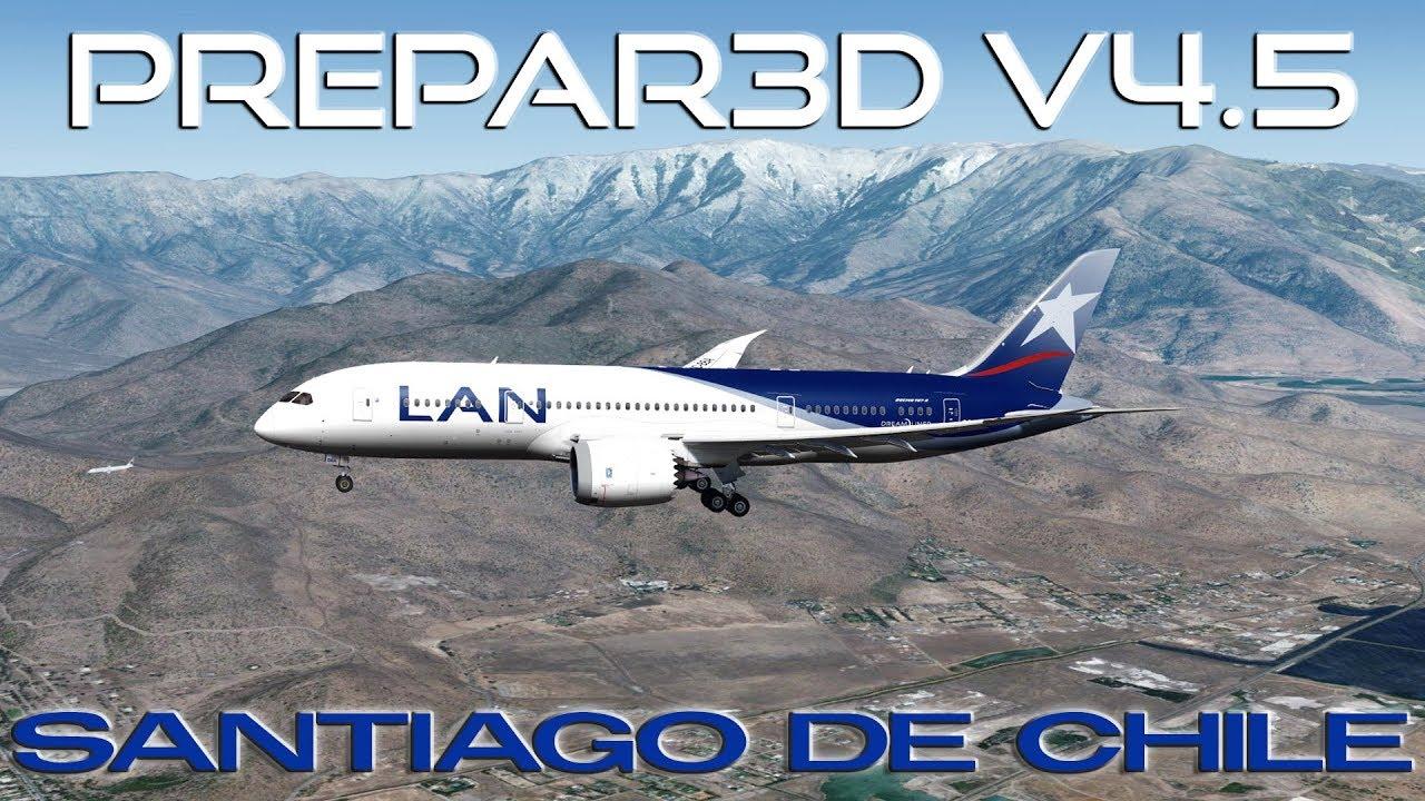 [P3DV4 5] LAN Airlines | Boeing 787-8 | HARD Landing Santiago, Chile