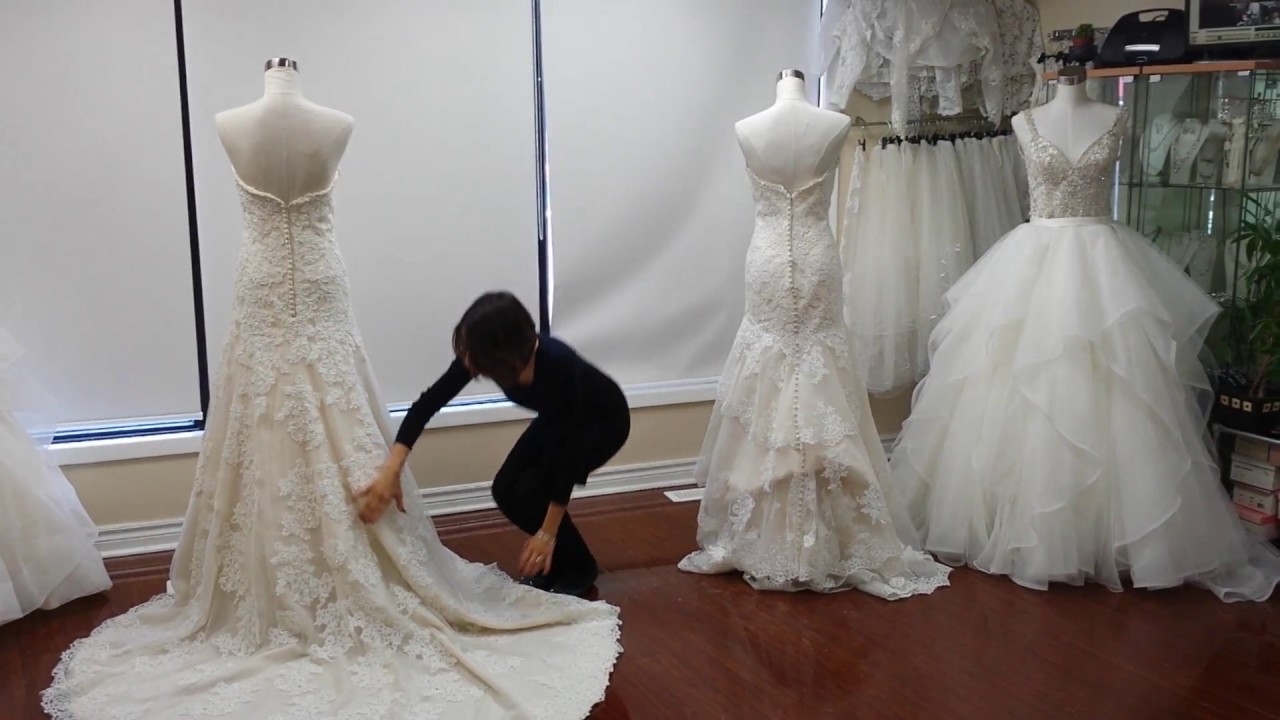 How To Bustle Your Wedding Dress-French Bustle Vs American