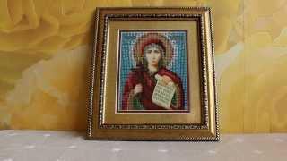 Вышивка бисером. Икона святой Наталии. Законченая работа