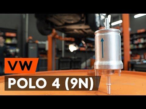 Как заменить топливный фильтр наVW POLO 4 (9N) [ВИДЕОУРОК AUTODOC]