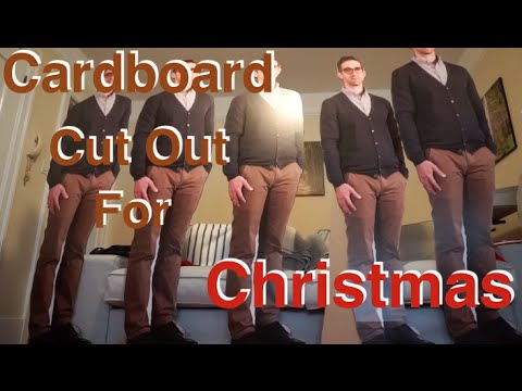 Vlog 65 - Cardboard cut-out for Christmas