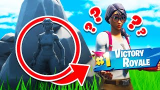 Winning ONLY as STONE SKIN in Fortnite
