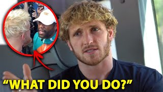 Logan Paul Reacts To Jake Paul And Floyd Mayweather Fight