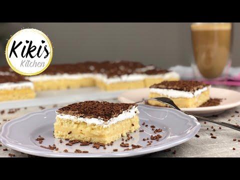 Puddingcremeschnitten mit Vanille