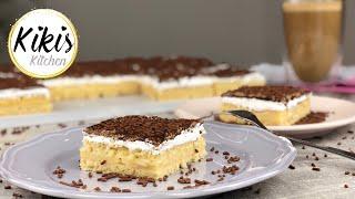 Puddingcremeschnitten mit Vanille und Marshmallowcreme | Blechkuchen | Konditorei Maus