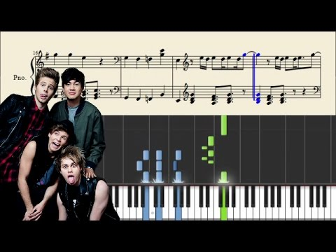5 Seconds Of Summer  Girls Talk Boys  Piano Tutorial + Sheets