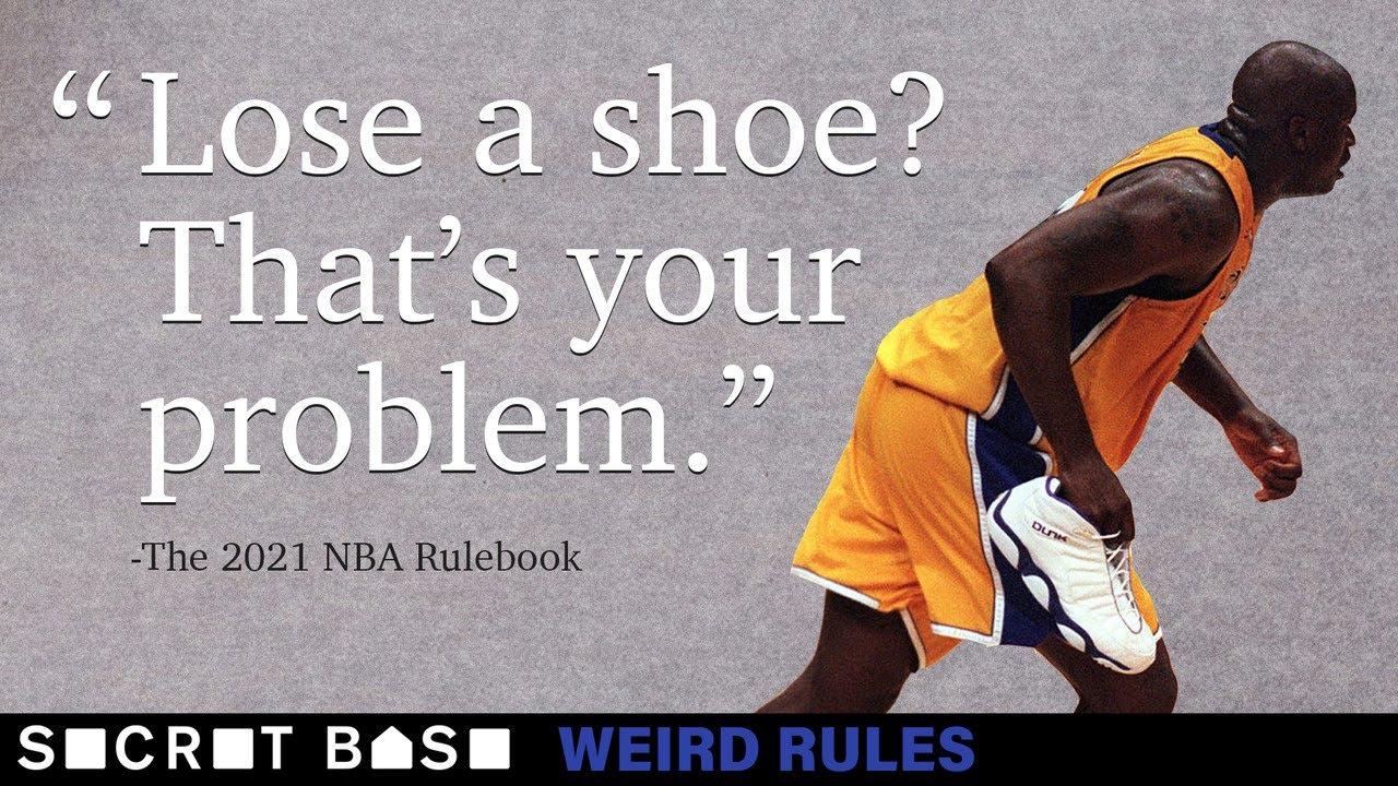 When an NBA player's shoe falls off, chaos reigns