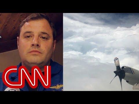 Pilot describes flying through Hurricane Florence