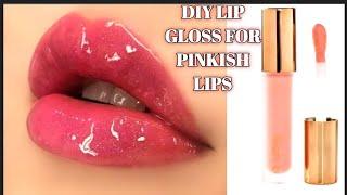 HOW TO MAKE DIY LIP GLOSS AT HOME FOR SOFT SMOOTH PINKISH LIPS HOMEMADE LIP GLOSS