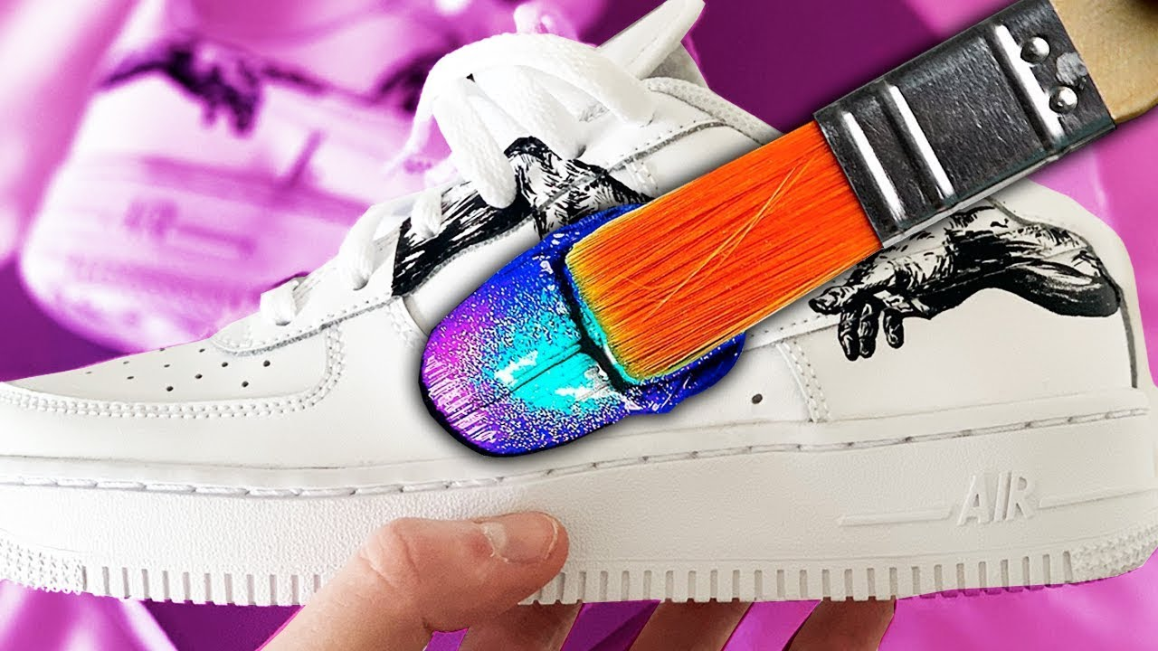 JE CUSTOM DES CHAUSSURES ! (Air Force 1)